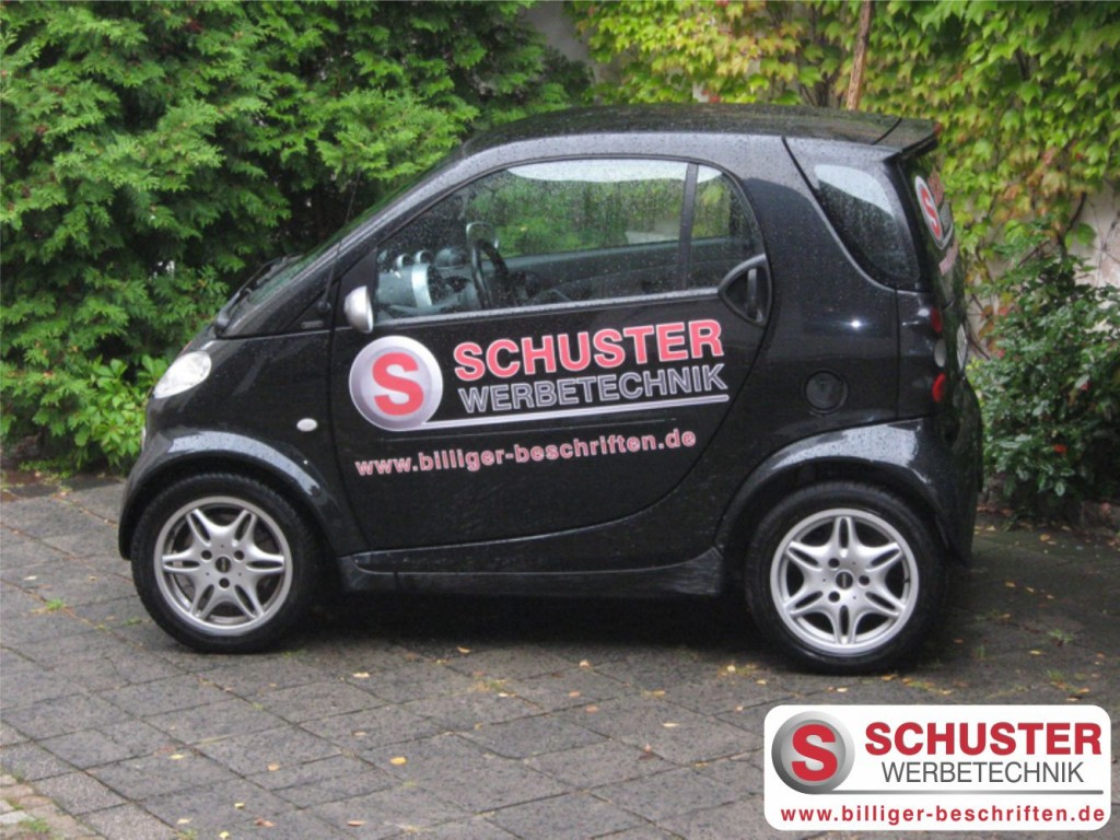 autobeschriftung autobeklebung auto fahrzeug werbung beschriftet smart schuster werbetechnik 1024x768 - FAHRZEUGBESCHRIFTUNG