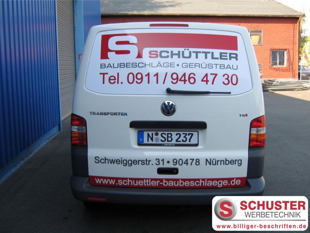 Fahrzeugbeschriftung VW Transporter