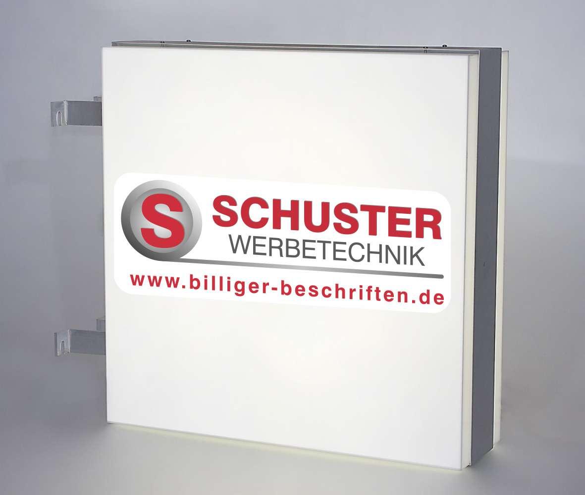 Leuchtkasten - Aussteckschild aus wetterfestem Aluminiumprofil mit Acrylglashauben