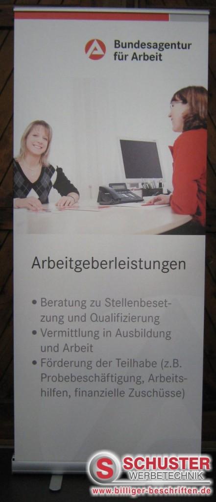 messe messestand präsentation digitaldruck grossformat xxl nürnberg popup roll up rollup display arbeitsagentur 441x1024 - MESSE - PRÄSENTATION