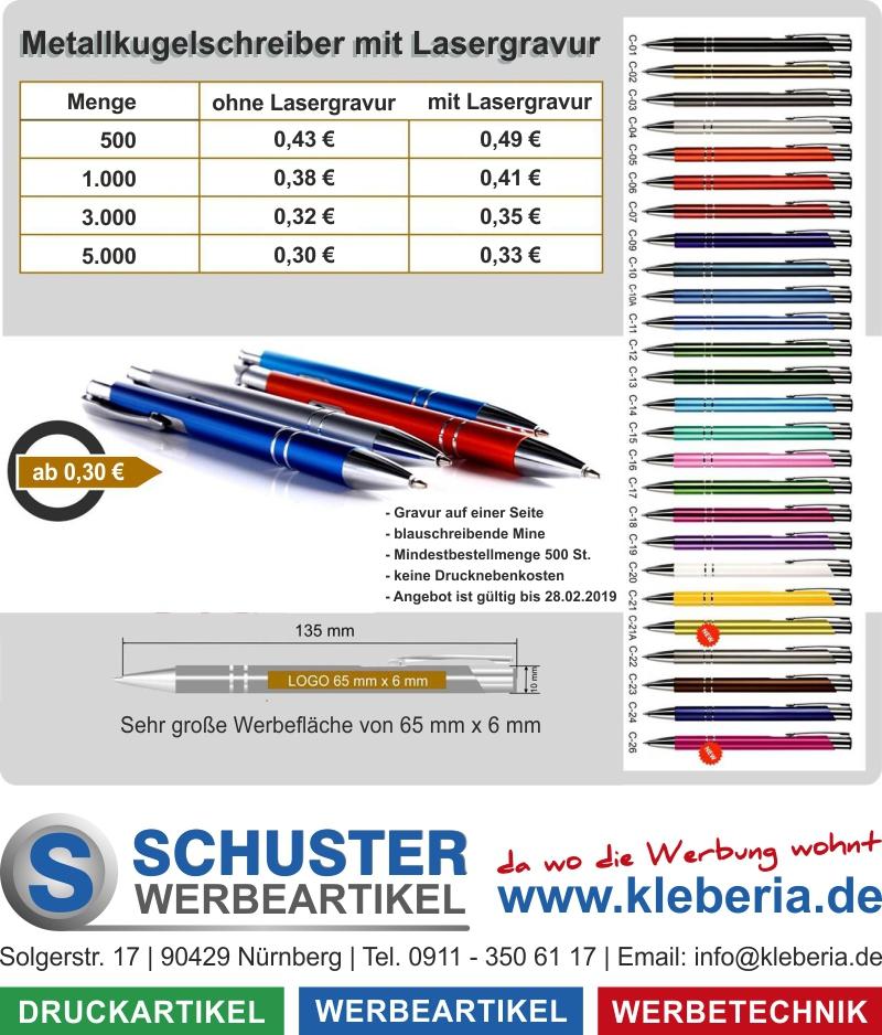 Metallkugelschreiber mit Lasergravur